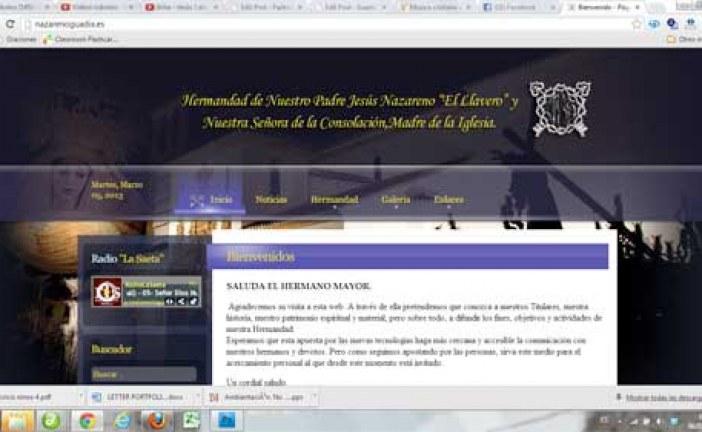 Arranca la nueva web de la hermandad de El Nazareno – www.nazarenoguadix.es