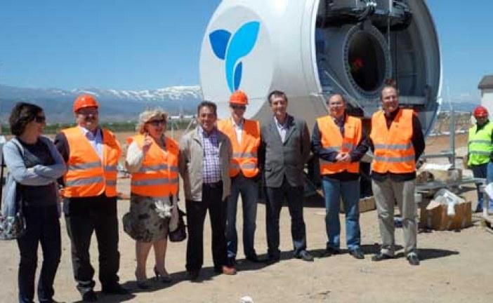 Los socialistas brindan su apoyo al primer parque eólico de Eozen inaugurado en la comarca de Guadix