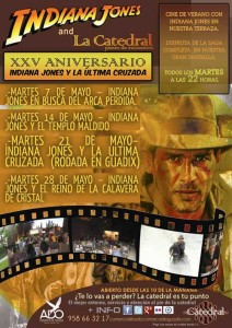 Cine de verano con Indiana Jones en la catedral punto de encuentro &#8211; 21 y 28 de Mayo