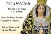 Ofrenda Floral a Ntra. Sra de la Soledad el próximo 11 de Mayo