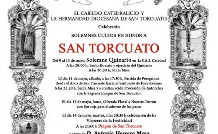 Cultos y pregón en honor a San Torcuato del 9 al 14 de Mayo