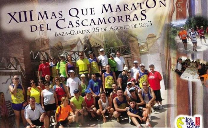 El próximo Domingo se celebra la XIII MASQUE MARATÓN DEL CASCAMORRAS 2013