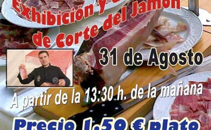 La Caseta de la Hermandad del Resucitado nos propone una exhibición y degustación de corte de Jamón en la Feria de Guadix 2013