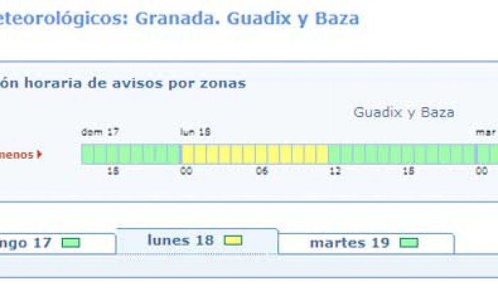 [Vídeo] Alerta amarilla por nevadas para mañana en la comarca de Guadix