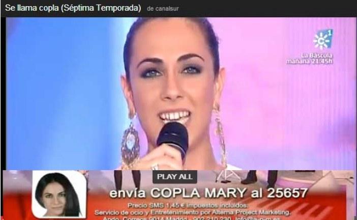 """Mari Carmen Vico, una Gorafeña participante del concurso """"Se llama copla"""" de Canal Sur  #MaryVico"""