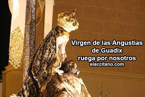 Miles de accitanos acompañan a su patrona, la Virgen de las Angustias [Vídeos]