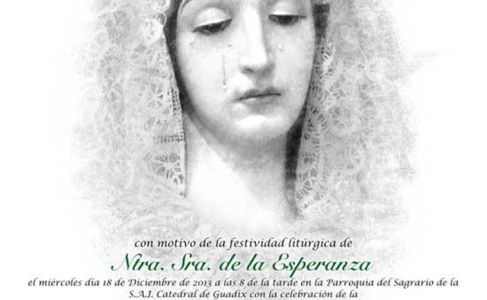 La Hermandad de la Esperanza concederá el título de cofrade de honor a la Asociación San José por su gran labor en Guadix