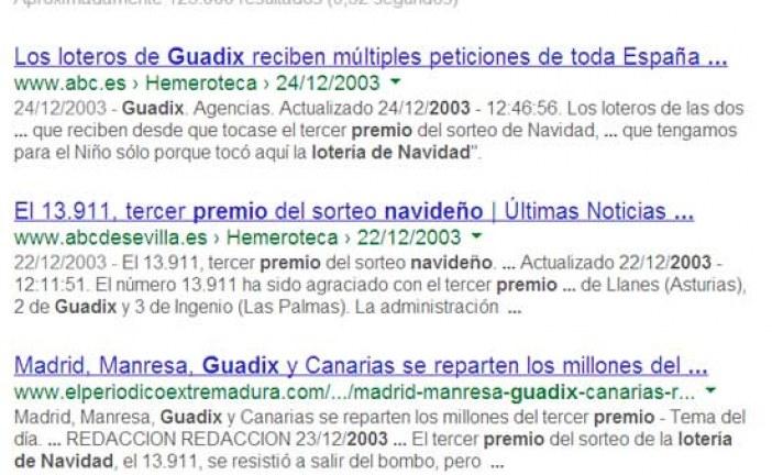 Se cumplen 10 años en que la suerte de la lotería de Navidad llegó a Guadix con el 13.911 #LoteriaRTVE