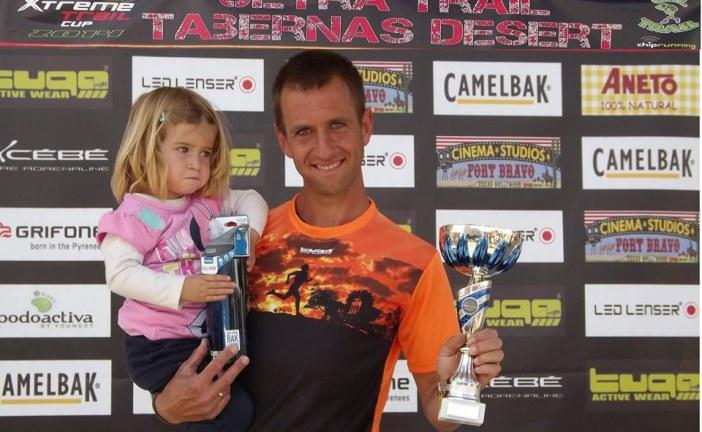 Miguel Ángel Blázquez sube al podium como 2º de su categoría en la I Trail Tabernas Desert [Vídeo]