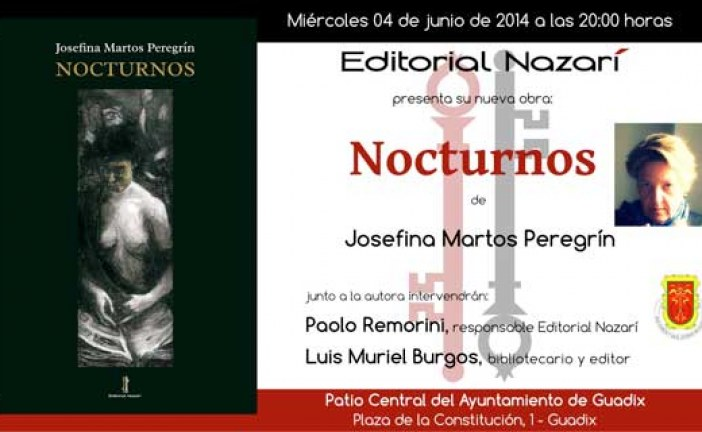[Vídeo] Presentado el libro Nocturnos de Josefina Martos Peregrín