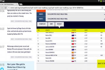Pablo Oliva consigue entrar en décimo quinto lugar en la copa del mundo de marcha, que se celebra en Taicang