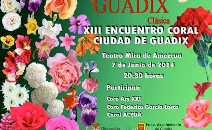 XIII Encuentro coral ciudad de Guadix el próximo 7 de Junio