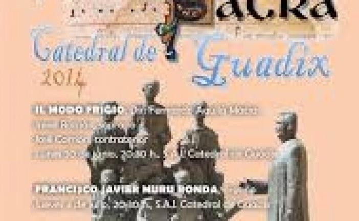 La Semana de Música Sacra en la Catedral de Guadix continúa mañana jueves con un concierto de órgano de Francisco Javier Muru Ronda