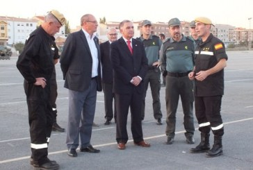 La Unidad Militar de Emergencias (UME) elige de nuevo Guadix como base para un ejercicio de evaluación interna que simula una actuación en la zona en caso de terremoto