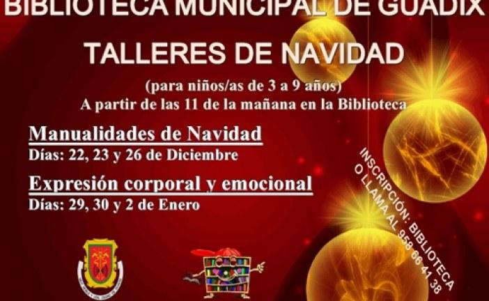 TALLERES DE NAVIDAD PARA NIÑOS EN LA BIBLIOTECA