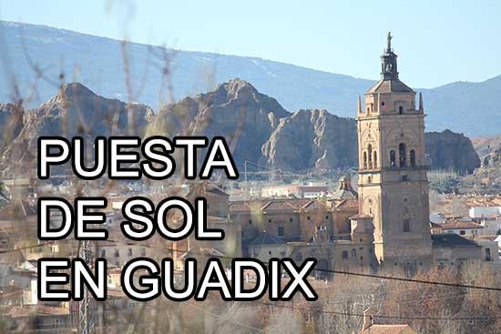Puesta de sol en Guadix