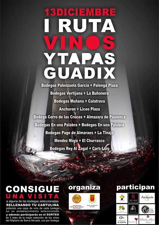 Ruta vino y tapas Guadix