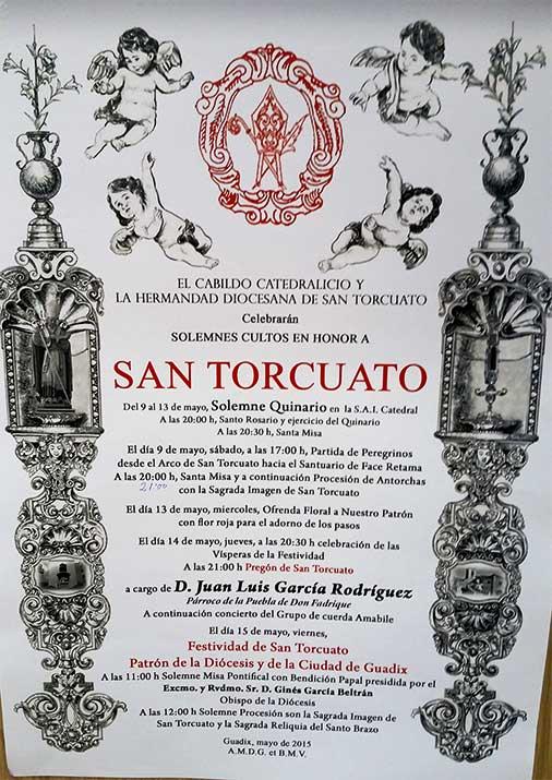 Programa cultos a San Torcuato