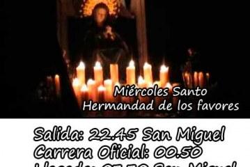 Horarios Semana Santa Guadix 2015 oficial [Vídeos]