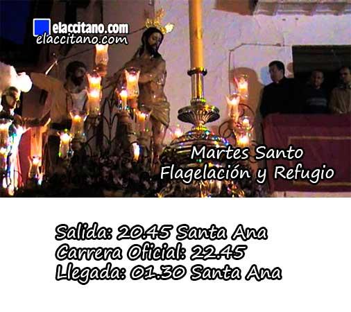 Martes Santo - Flagelación y Refugio