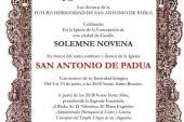 Novena a San Antonio de Padua Guadix comienza mañana hasta el 13 de Junio