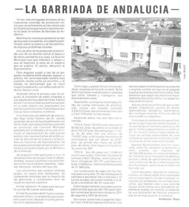 1982 Barriada de Andalucia