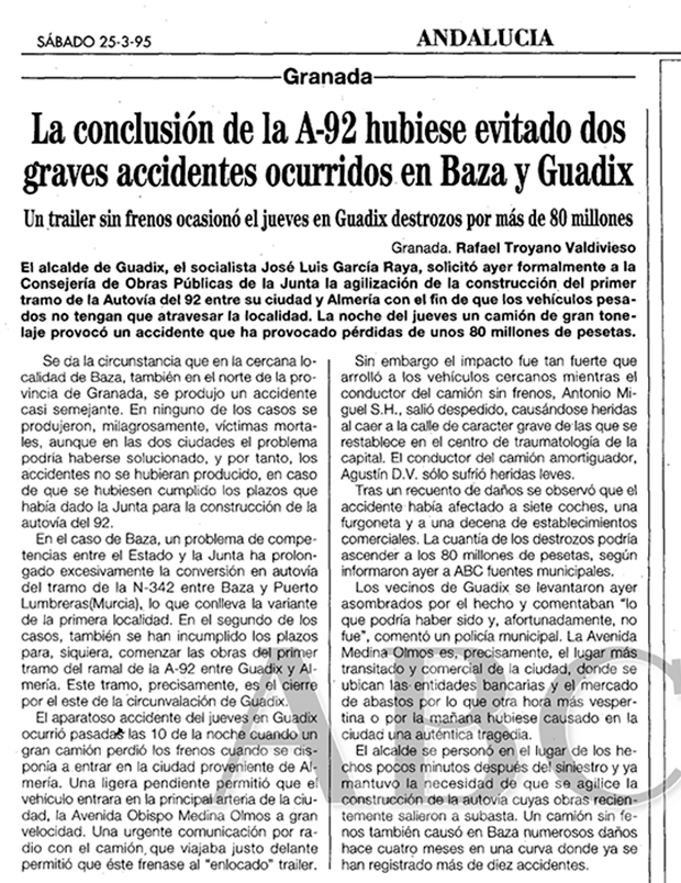 Accidente en Guadix de 1995 en ABC