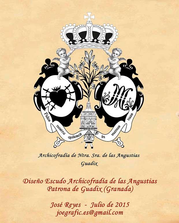 Nuevo escudo para la Virgen de las Angustias obra de José Reyes