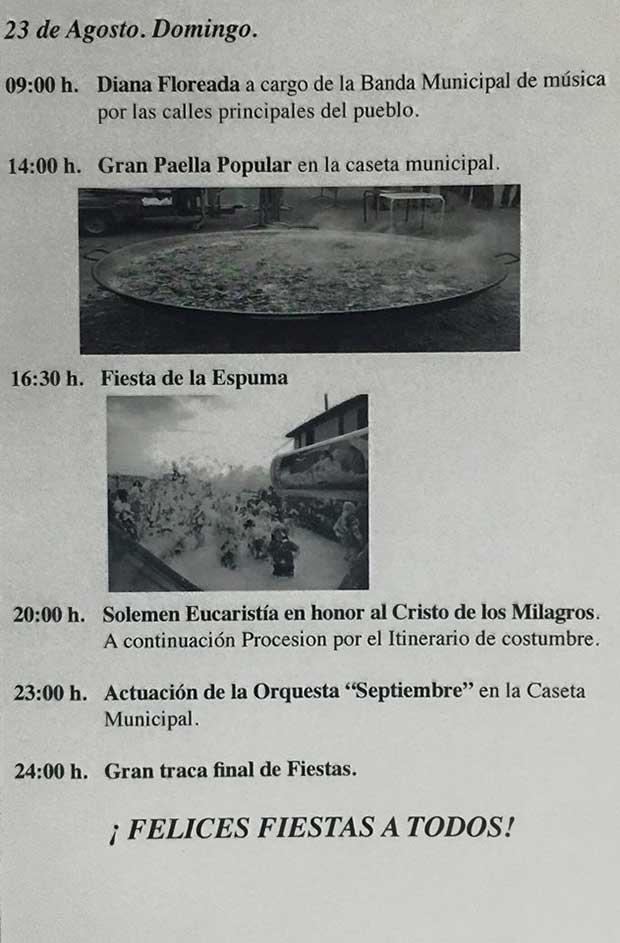 Fiestas de Purullena 23 de agosto