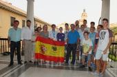 Pablo Oliva y otros atletas accitanos han sido recibidos oficialmente en el Ayuntamiento de Guadix