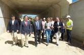 Sanz anuncia que las obras de encauzamiento de la Rambla de Baza en Guadix (Granada) finalizarán este otoño