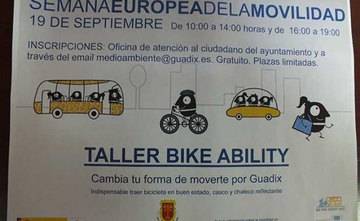Un taller de Bike Ability mostrará a los participantes cómo cambiar su forma de moverse por Guadix en la Semana Europea de la Movilidad
