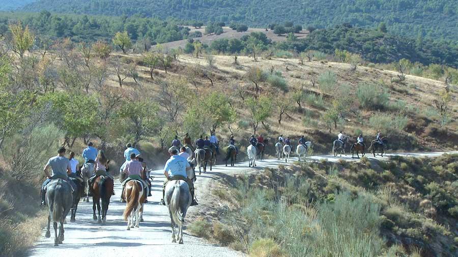 Ruta ecuestre en La Peza