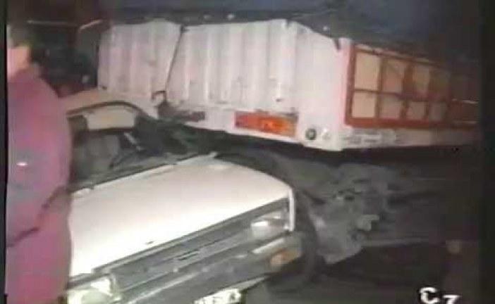 Aparatoso accidente en Guadix del 5 de marzo de 1995 [Vídeo]