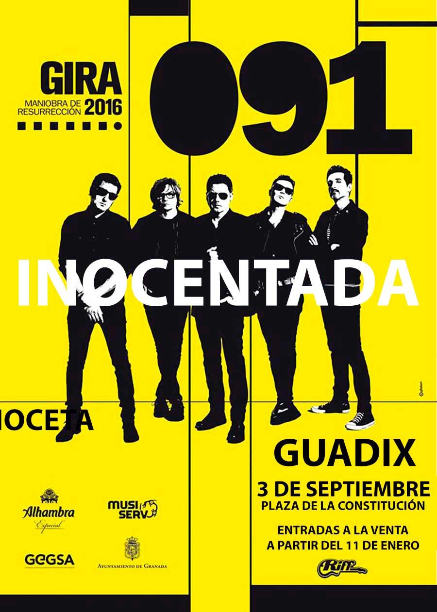 Inocentada concierto de 091 en Guadix