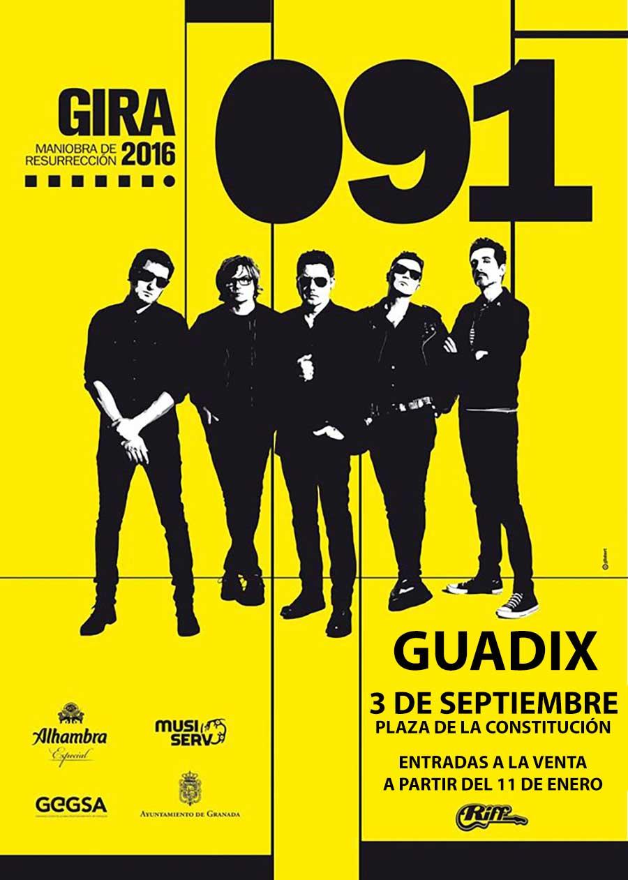 Cartel 091 en Guadix