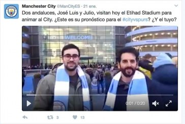 Dos accitanos entrevistados en la cuenta de twitter del Manchester City @ManCityES #cityvspurs