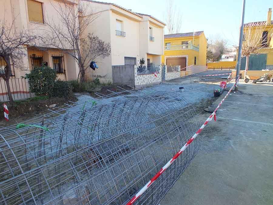 Obras en la barriada de Andalucia