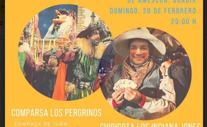 La comparsa de Juan Carlos Aragón y Kike Remolinos plato fuerte del Carnaval de Guadix