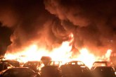 Espectacular incendio sofocado por los bomberos de Guadix