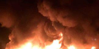 Incendio en Guadix