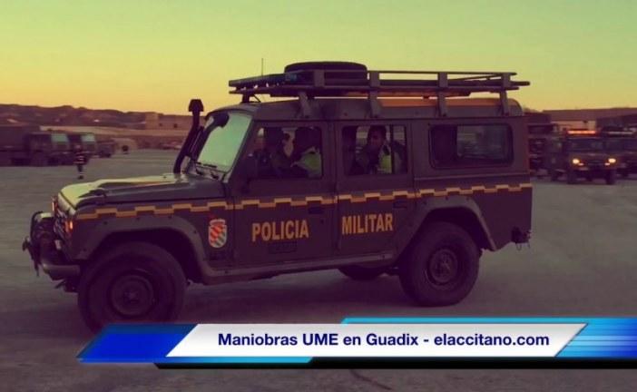Más de 400 militares, 104 vehículos y 2 helicópteros participan en el ejercicio de adiestramiento de la UME en Guadix