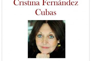 Cristina Fernández Cubas visita el Aula Abentofail en su sesión de marzo