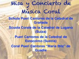 Misa y concierto de música coral