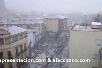 Comienza a nevar en Guadix y comarca hoy 13 de marzo de 2017 [Vídeos]