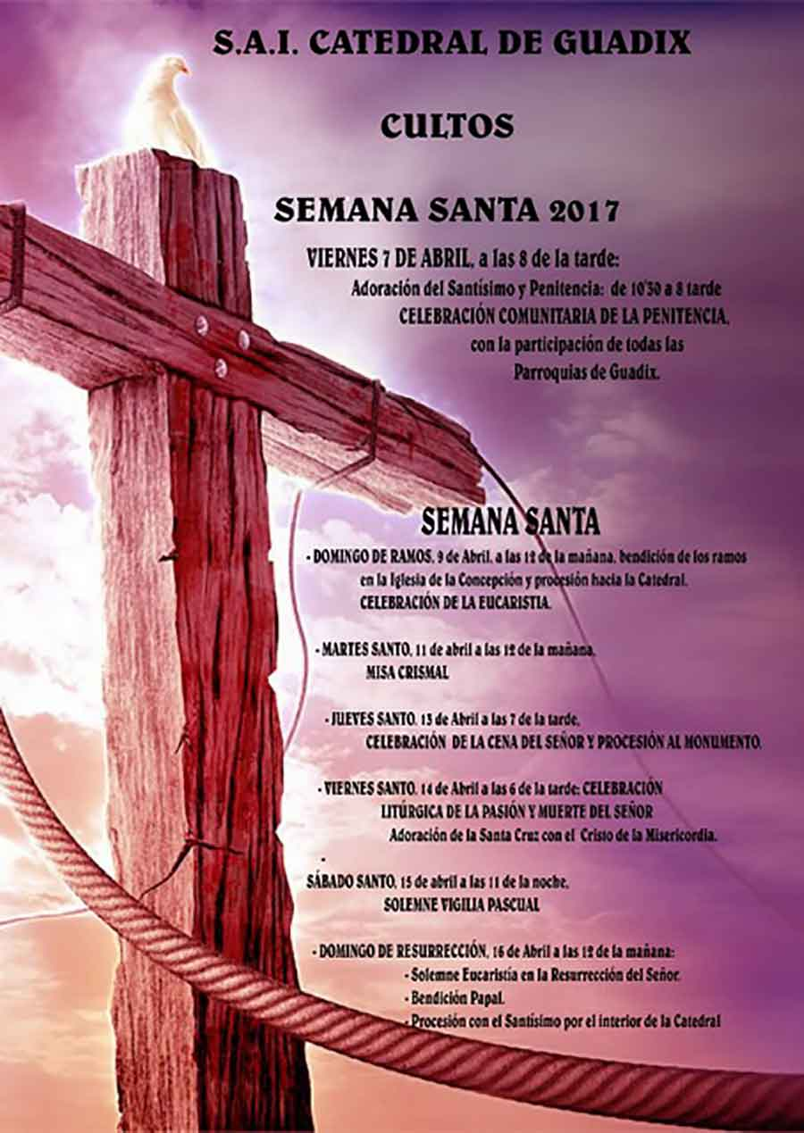 Horarios semana santa Guadix