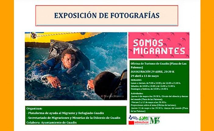 """Llega a Guadix la exposición de fotografías """"somos migrantes"""""""