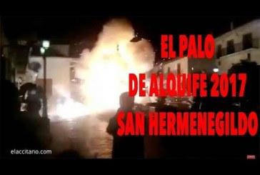 """Momento de la explosión de """"El Palo de Alquife"""" en las fiestas de San Hermenegildo 2017"""