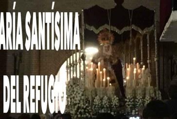 La Virgen del Refugio celebra su 25 aniversario junto al Cristo de la Flagelación en la Semana Santa accitana