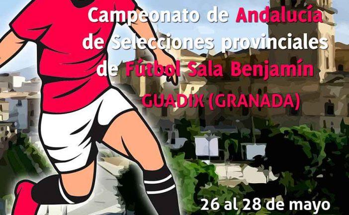 El Campeonato de Andalucía de Selecciones provinciales de Fútbol Sala Benjamín congrega este fin de semana a más de 600 personas en Guadix